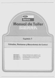 Cristales Ventanas y Mecanismos de Comandos - Ford Sierra Net