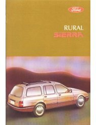 Manual del Propietario Ford Sierra Rural - Ford Sierra Net