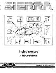 Instrumental y Accesorios - Ford Sierra Net