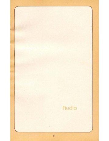 Audio - Ford Sierra Net
