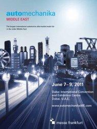 June 7– 9, 2011 - Automechanikame.org