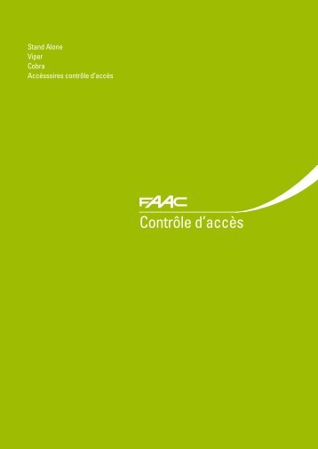Contrôle d'accès - Faac