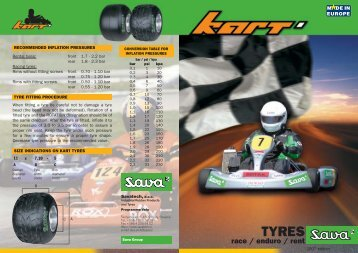 Sava race enduro rent kart tyres - Savatech