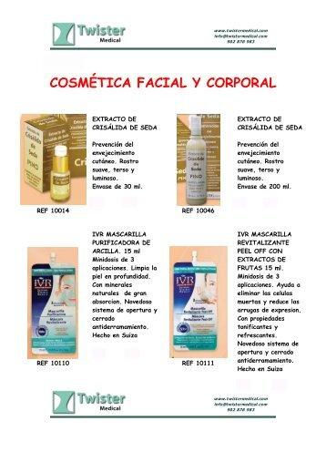 COSMÉTICA FACIAL Y CORPORAL - Twister Medical