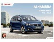 Lista preturi ALHAMBRA MY14 august - Moldotrans Auto