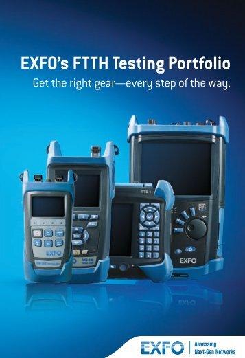 EXFO's FTTH Testing Portfolio