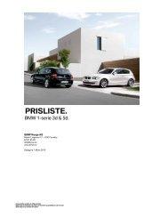 E81 & E87 - 1-serie 03_2010 Veiledende prisliste PDF grunnlag