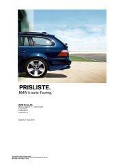 E61 - 5-serie Touring 03_2010 Veiledende prisliste PDF ... - Bmw
