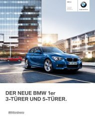 DER NEUE BMW 1er 3-TÜRER UND 5-TÜRER. - website of the ...