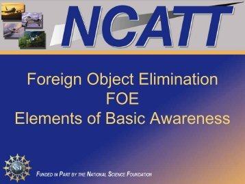 FOE - Elements of Basic Awareness - NCATT