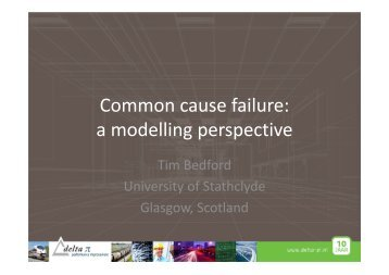 Common cause failure: a modelling perspective - Delta Pi
