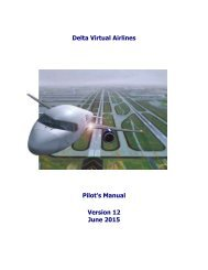 Delta Virtual Airlines Pilot's Manual