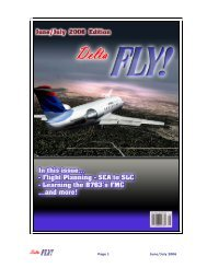 June - July 2006 - Delta Virtual Airlines