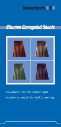Kovertech are the robust and economic result for roof ... - proarg.de