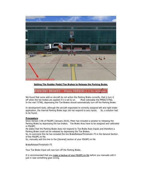Parking Brake Release - 737NG co uk