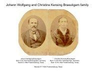 Johann Wolfgang and Christine Kensing Braeutigam family
