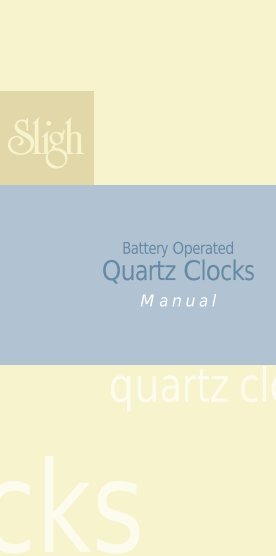 Battery Operated Quartz Clocks (1 - Champs Clock Shop