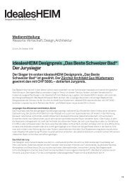 """IdealesHEIM Designpreis """"Das Beste Schweizer Bad"""" Der Jurysieger"""