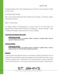 Council Minutes Tuesday, July 10, 2012 - City Of St. John's