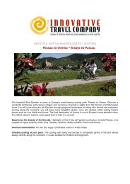 LIFESTYLE Self-Guided HOLIDAYS - AUSTRIA ... - Innovative Travel