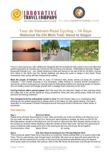 Tour de Vietnam Road Cycling – 14 Days - Innovative Travel