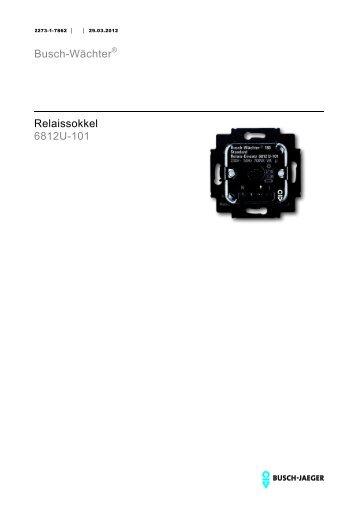 Busch-Wächter® Relaissokkel 6812U-101 - BUSCH-JAEGER Katalog