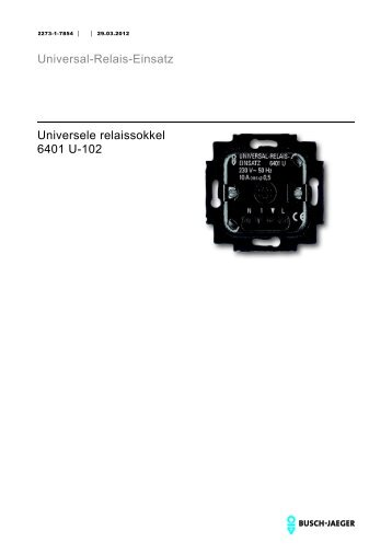 Universal-Relais-Einsatz Universele relaissokkel 6401 U-102