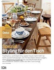 Spezial Styling für den Tisch