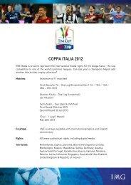 COPPA ITALIA 2012 - IMG Programming - HOME