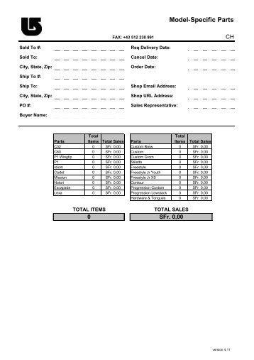 Part Order Form Final Gb  Spare Part Id