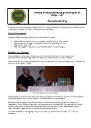 P34 - Avesta Whiskysällskap