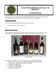 P32 - Avesta Whiskysällskap