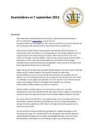 Kvartalsbrev nr 7 september 2012