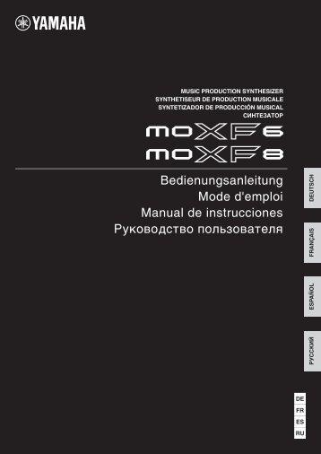 MOXF6 / MOXF8 Owner's Manual - Jam.ua