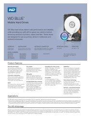 WD Blue Mobile Series Spec Sheet - Western Digital