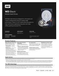 WD Black™ Mobile Series Disti Spec Sheet - Mullet.se