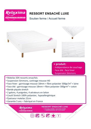 gamme deco promo matelas. Black Bedroom Furniture Sets. Home Design Ideas