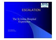Escalation - The St John's Hospital Experience