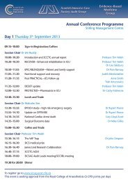 Annual Conference Programme - The Scottish Intensive Care ...