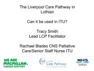 The Liverpool care Pathway - The Scottish Intensive Care Society ...