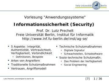 Informationsicherheit (Security) - auf Matthias-Draeger.info