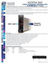 MDDM-860 - Blonder Tongue Laboratories Inc.