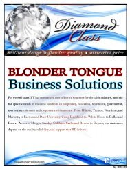 Business Solutions - Blonder Tongue Laboratories Inc.