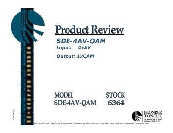 4 AV to 1 QAM - Blonder Tongue Laboratories Inc.