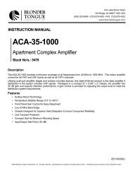 ACA-35-1000 - Blonder Tongue Laboratories Inc.