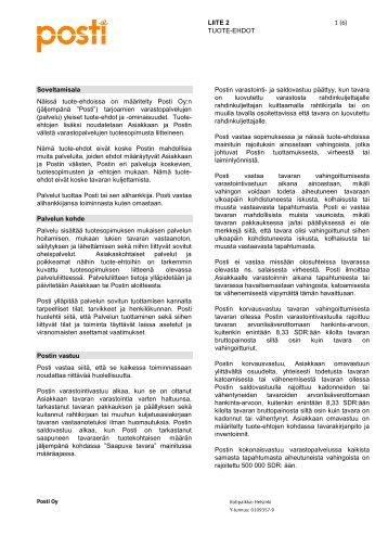 Liite 2_Tuote-ehdot_Toimitusketjuratkaisut