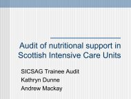 Trainee Nutrition Audit - The Scottish Intensive Care Society Audit ...