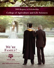 We're Family! - College of Agriculture and Life Sciences - Texas ...