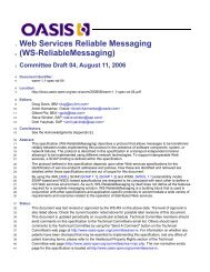 WS-ReliableMessaging - OASIS Open Library