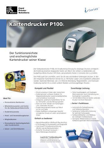 Zebra Kartendrucker P100i - bei Pro Card Systems GmbH